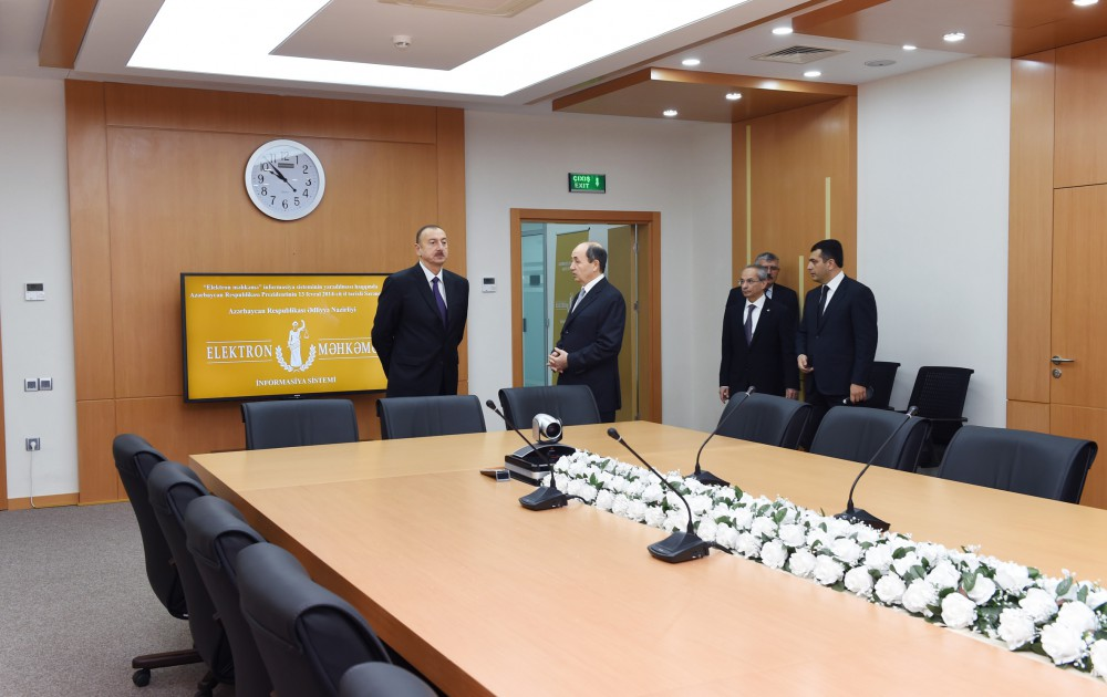 President Aliyev attends opening of Sabunchu Court Complex - Gallery Image