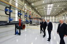 President Aliyev attends opening of Technical Equipment Plant in Sumgayit - Gallery Thumbnail