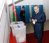 Head of Azerbaijani Presidential Administration votes at parliamentary election - Gallery Thumbnail
