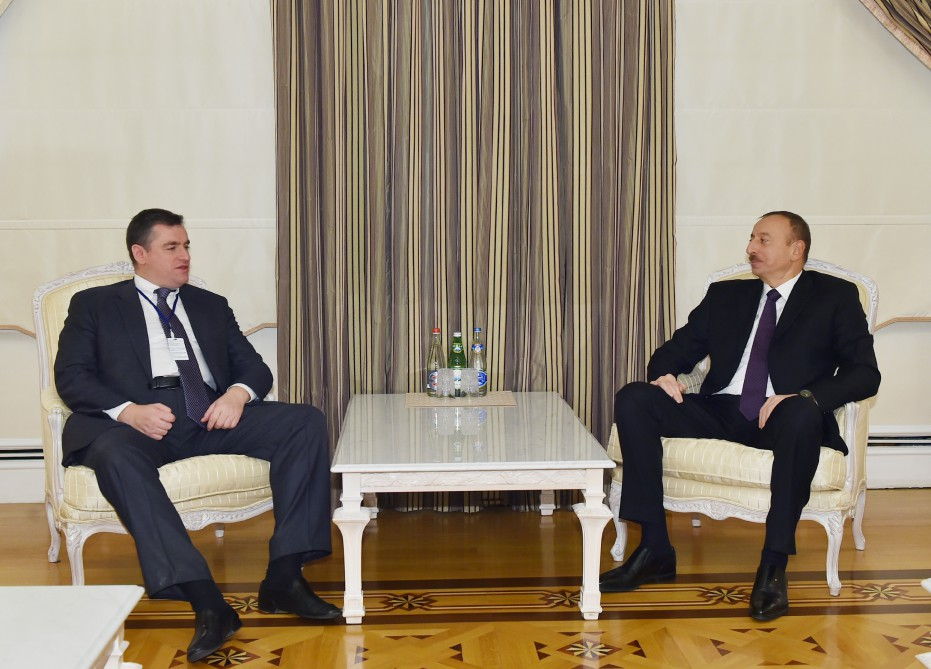 President Aliyev receives chairman of Russian State Duma Committee