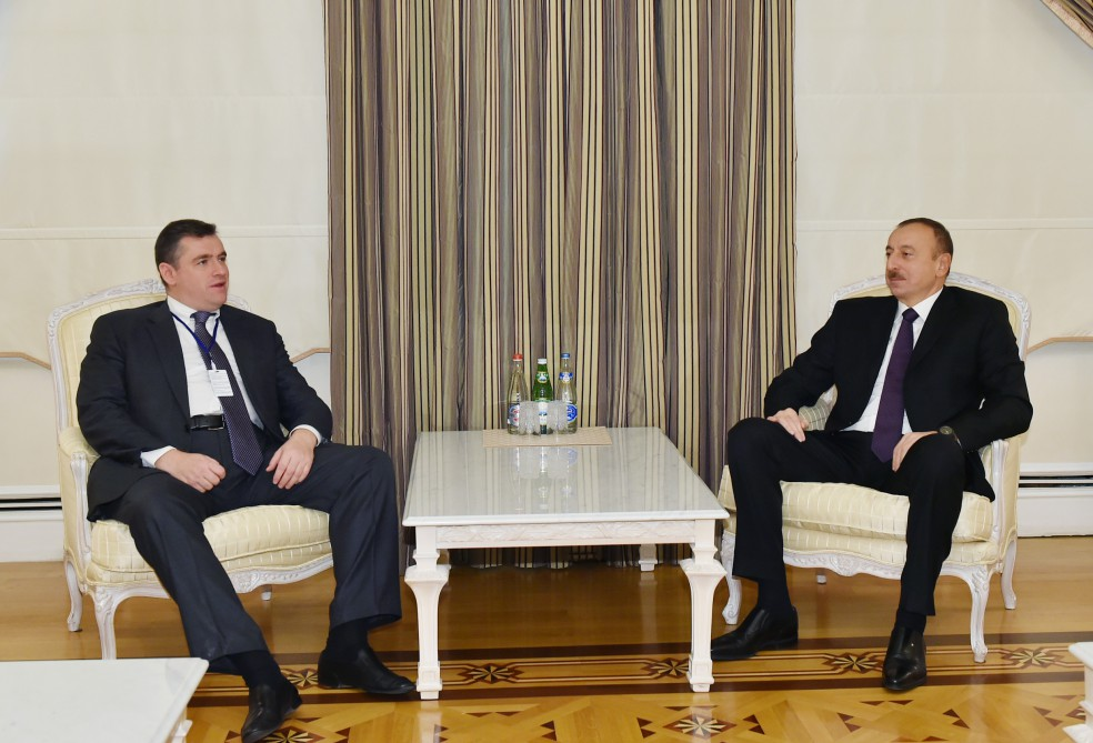 President Aliyev receives chairman of Russian State Duma Committee - Gallery Image