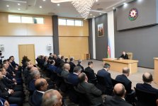 Azerbaijani president attends opening of new administrative building of Shaki Court Complex - Gallery Thumbnail