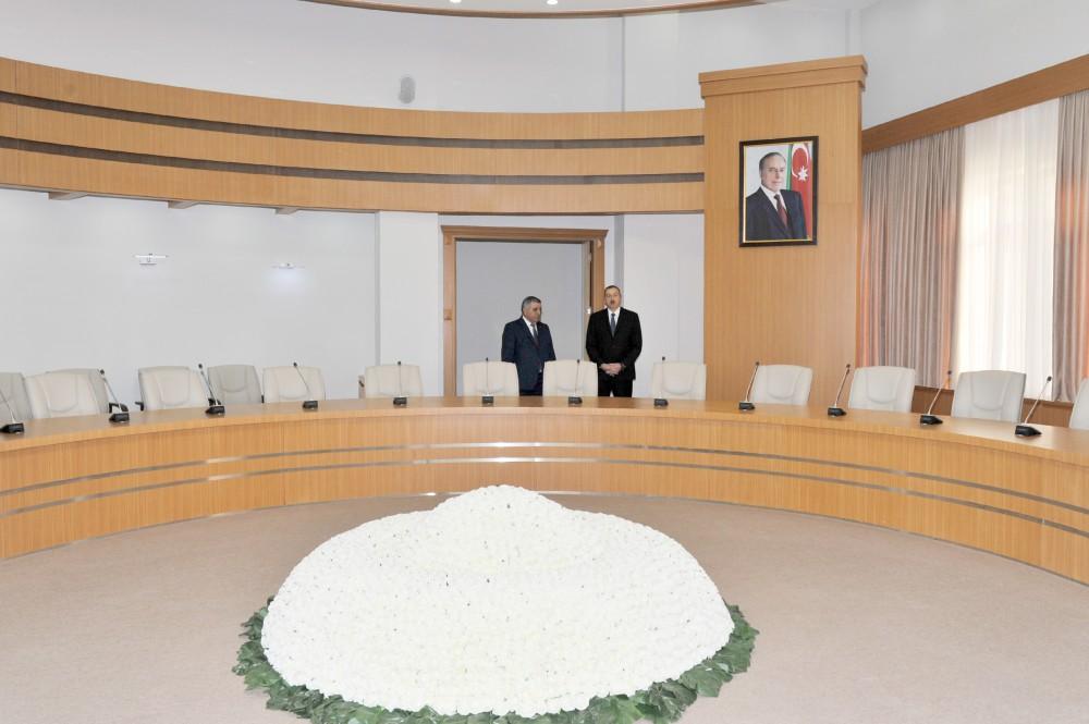 Президент Ильхам Алиев принял участие в открытии Центра Гейдара Алиева в городе Загатала - Gallery Image