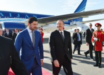 President Aliyev arrives in Georgia on official visit - Gallery Thumbnail