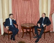 President Ilham Aliyev met with the former Prime Minister of Georgia - Gallery Thumbnail