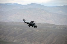 Azerbaijan conducts tactical flight drills using combat helicopters - Gallery Thumbnail