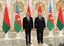 Minsk hosts official welcoming ceremony for President Aliyev - Gallery Thumbnail
