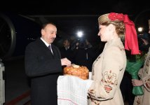 President Ilham Aliyev arrived in Belarus on an official visit - Gallery Thumbnail