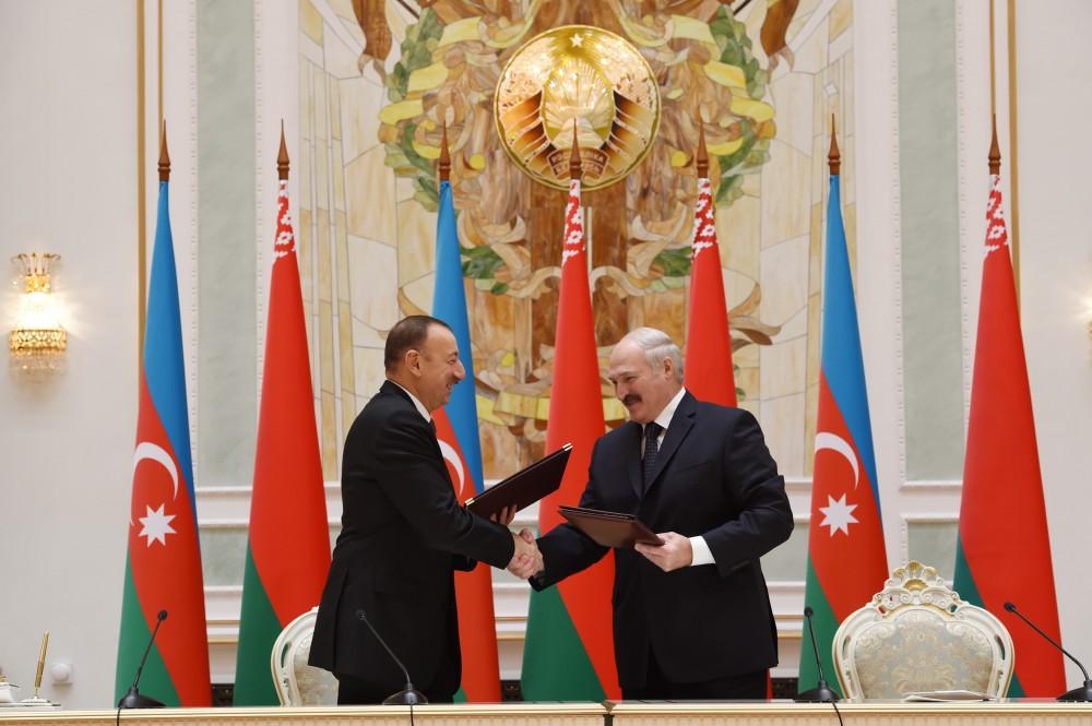 Azərbaycan və Belarus 4 sənəd imzaladılar (FOTO) - Gallery Image