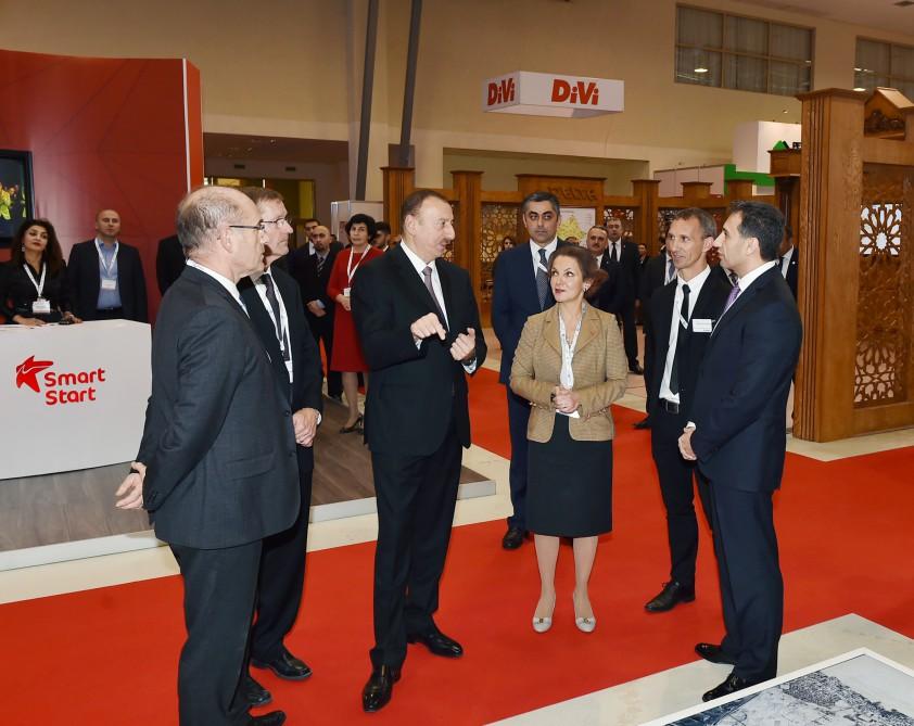 Azerbaijani president visited Bakutel 2015 exhibition (PHOTO) - Gallery Image