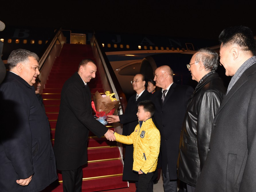 President Aliyev arrives in Beijing from Xian (PHOTO) - Gallery Image