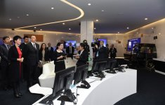 President Aliyev visits exhibition centre of Huawei in Beijing - Gallery Thumbnail