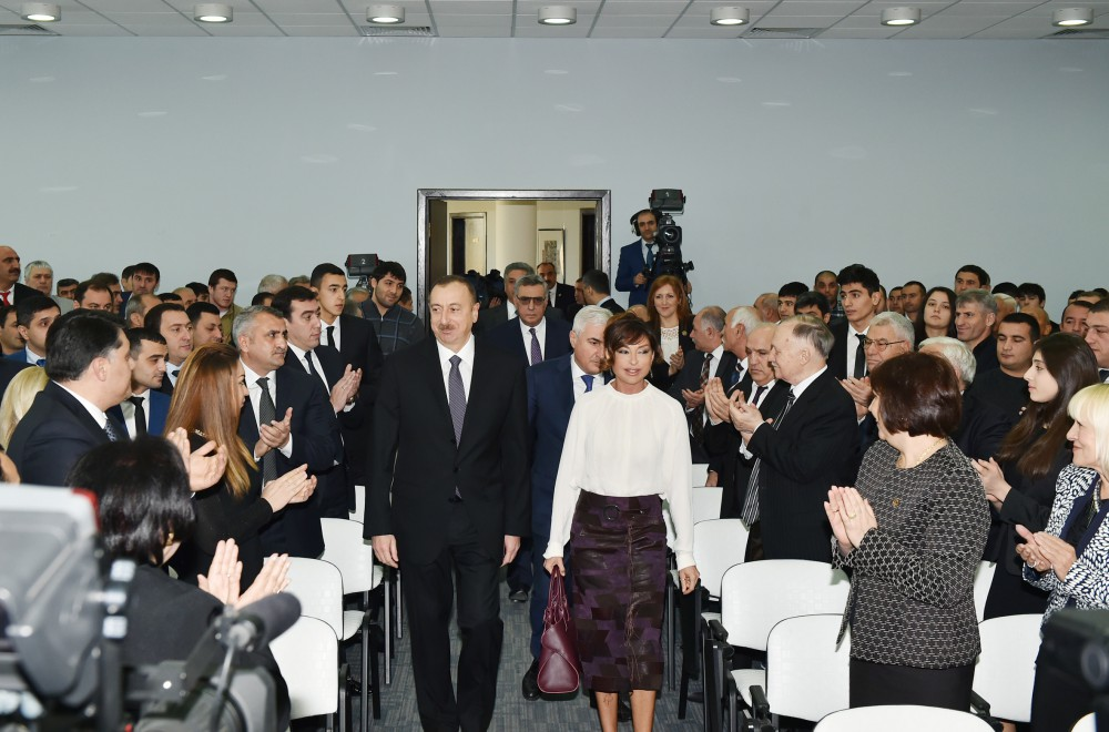 President Aliyev, his spouse attend ceremony dedicated to 2015 sport results