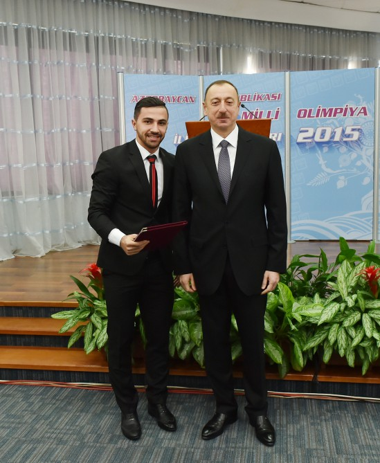 President Aliyev, his spouse attend ceremony dedicated to 2015 sport results - Gallery Image