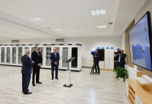Azerbaijani president attends opening of several electrical substations in Khazar district - Gallery Thumbnail