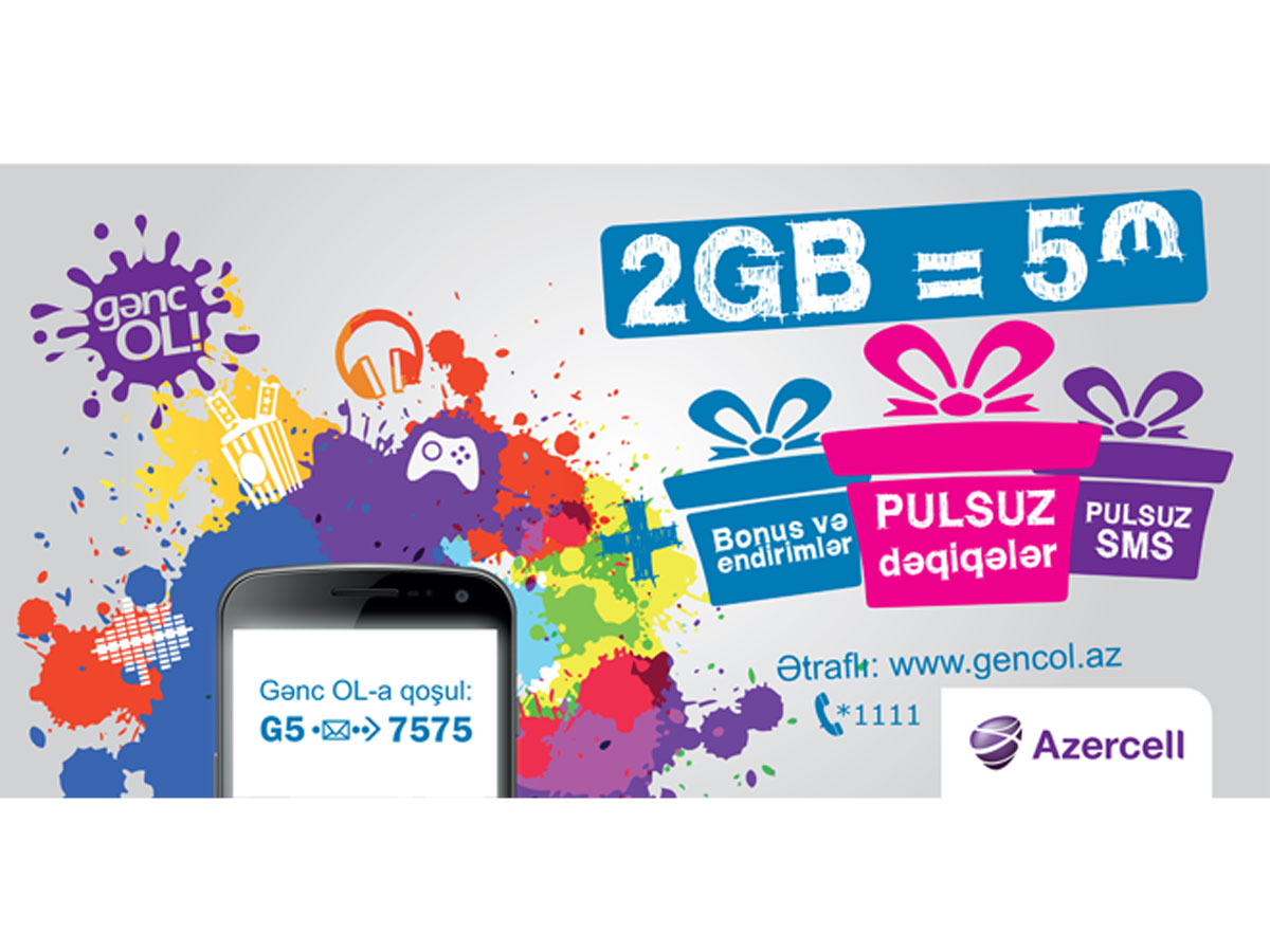 Up to 50% discounts with Genc OL tariff pack from Azercell