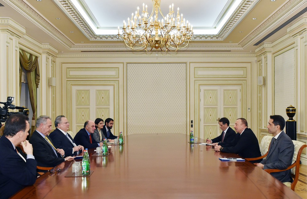 President Ilham Aliyev received delegation led by Greek Foreign Minister - Gallery Image