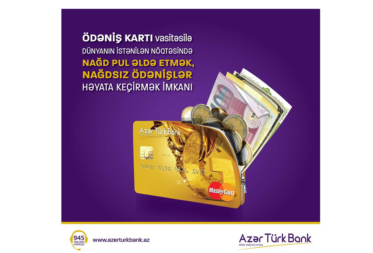 Get smooth shopping experience with payment cards of Azer Turk Bank