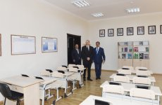 Azerbaijani president attends opening of secondary school No. 39 in Ganja - Gallery Thumbnail
