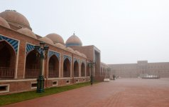 President Aliyev visits Imamzade religious complex in Ganja - Gallery Thumbnail