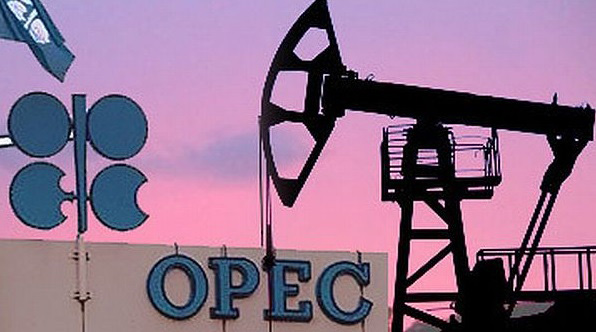 OPEC oil price drops below $45/bbl
