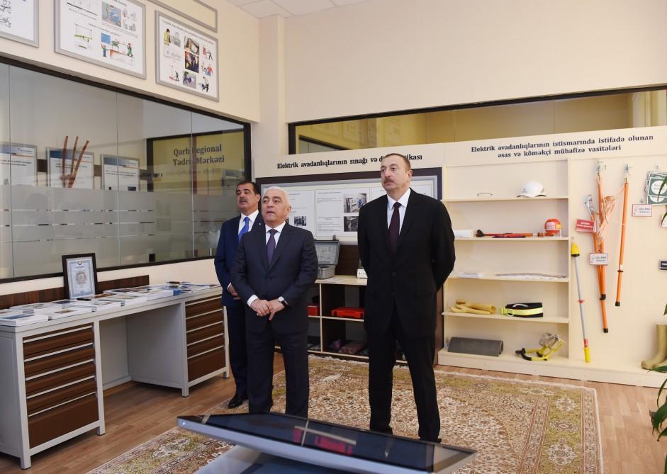 """Prezident İlham Əliyev Gəncədə """"Nizami"""" yarımstansiyasını işə salıb (FOTO) - Gallery Image"""