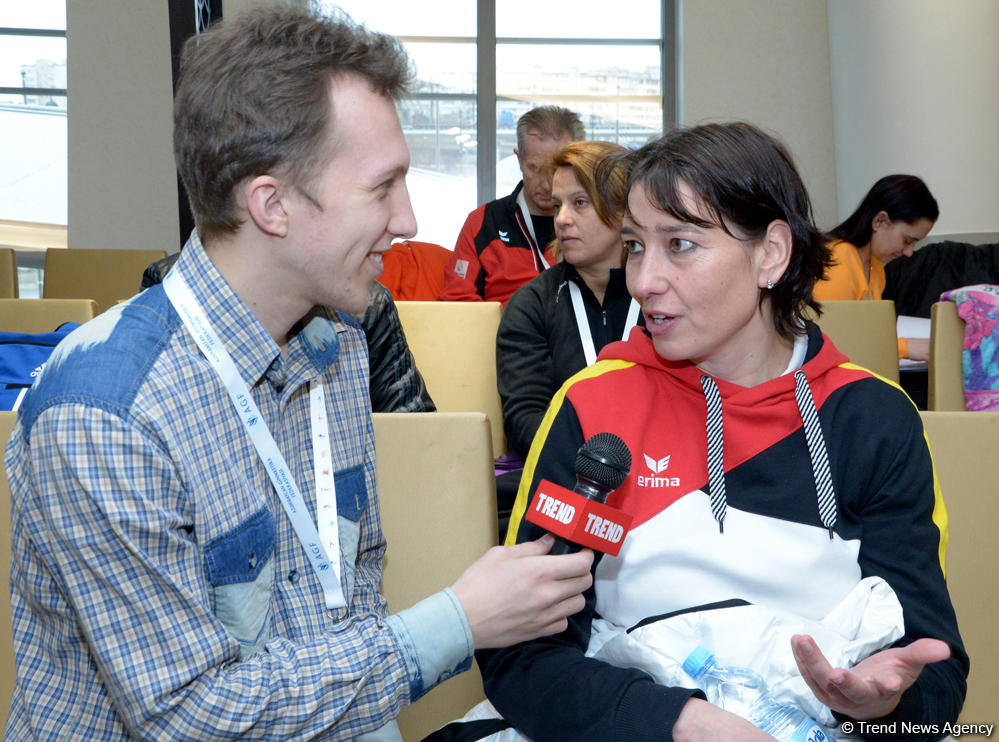 German gymnasts impressed with preparation for FIG World Cup in Baku - Gallery Image