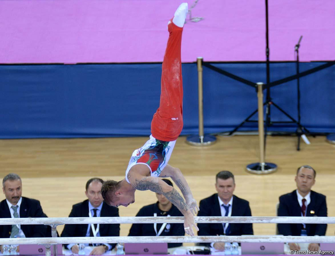 Azerbaijani gymnast advances to parallel bars finals at FIG World Challenge Cup