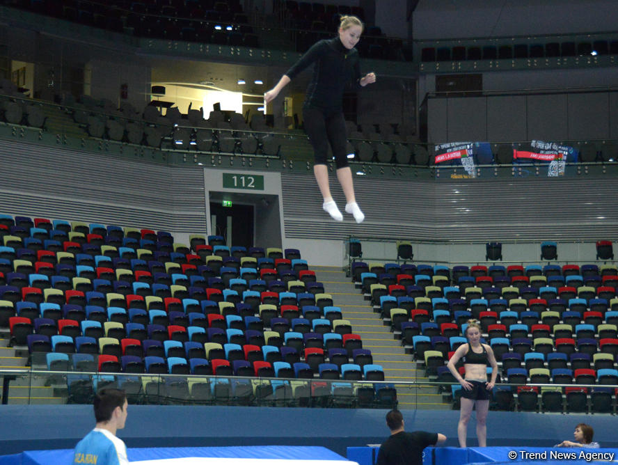 Azerbaijani gymnasts hope for fans' support at FIG Trampoline Gymnastics World Cup - Gallery Image