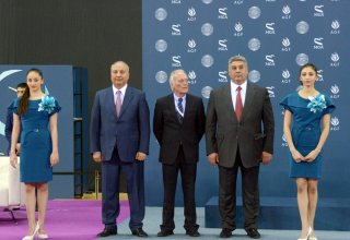 Baku hosts opening ceremony for FIG World Cup in Trampoline Gymnastics  (PHOTO)