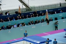 Azerbaijani female gymnasts reach finals of FIG World Cup synchronized events - Gallery Thumbnail