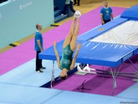Bakıda batut gimnastikası üzrə FIG Dünya Kubokunun ilk yarış günü start götürüb (FOTO) - Gallery Thumbnail