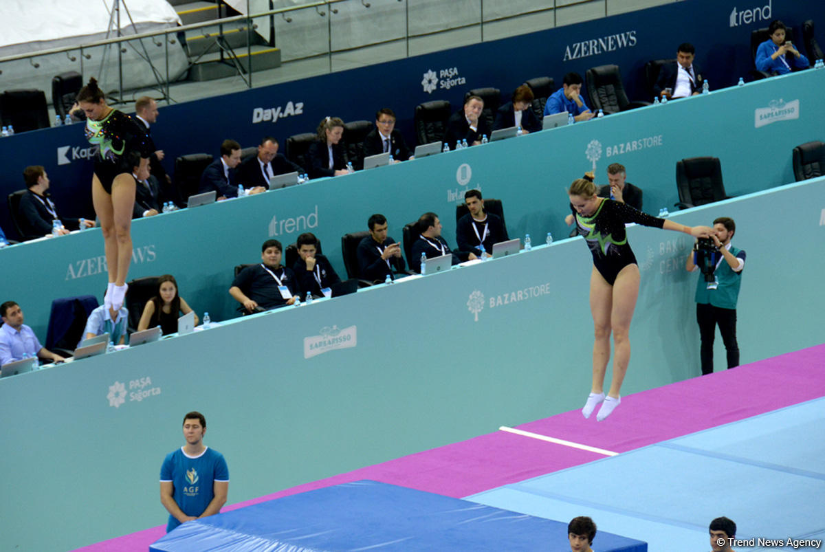 Azerbaijani female gymnasts reach finals of FIG World Cup synchronized events - Gallery Image