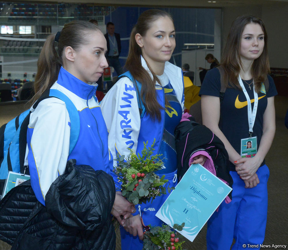 First Secretary of Ukraine's Embassy meets athletes on the World Cup in Trampoline Gymnastics in Baku (PHOTO) - Gallery Image