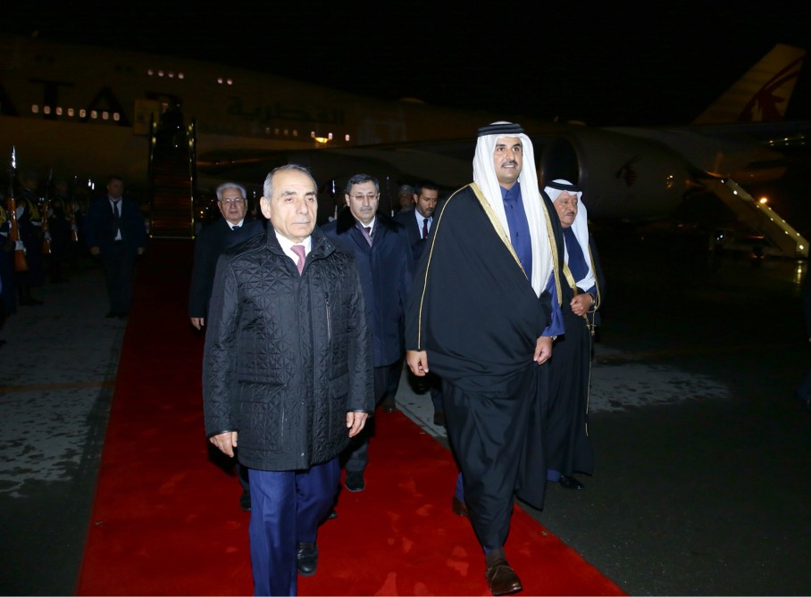 Emir of Qatar embarks on official visit to Azerbaijan - Gallery Image