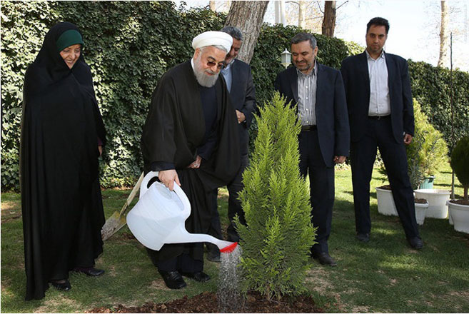 Iran's president Rouhani goes green