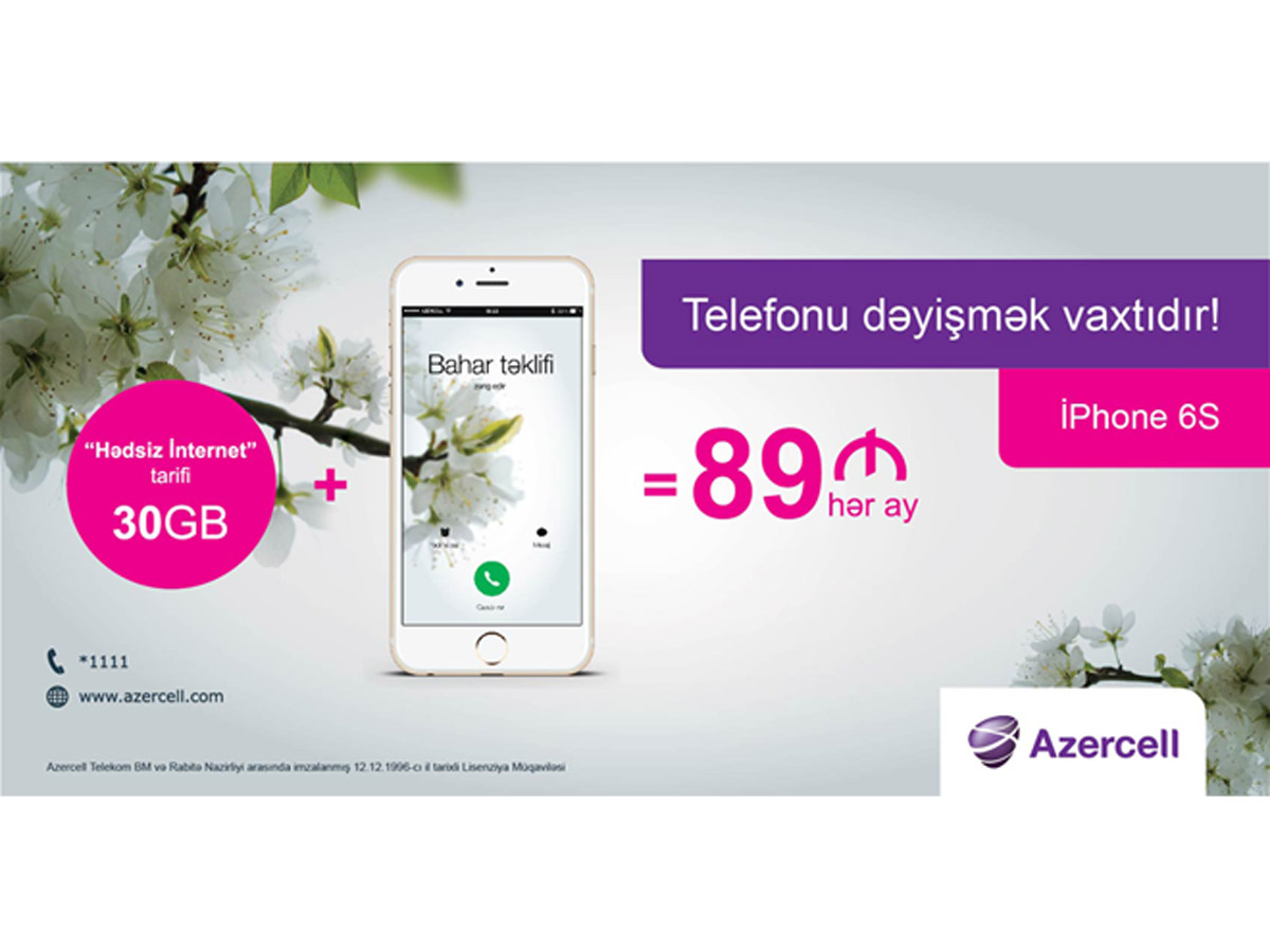 "Beneficial ""Spring"" offer from Azercell"