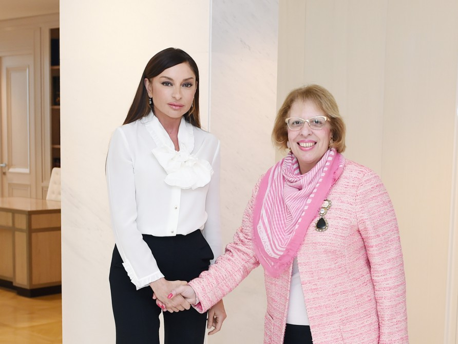 Azerbaijan's first lady meets Egyptian ambassador (PHOTO) - Gallery Image