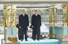 Prezident İlham Əliyevin Ankarada rəsmi qarşılanma mərasimi olub (FOTO) - Gallery Thumbnail