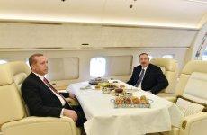 Azerbaijani president completes visit to Turkey - Gallery Thumbnail