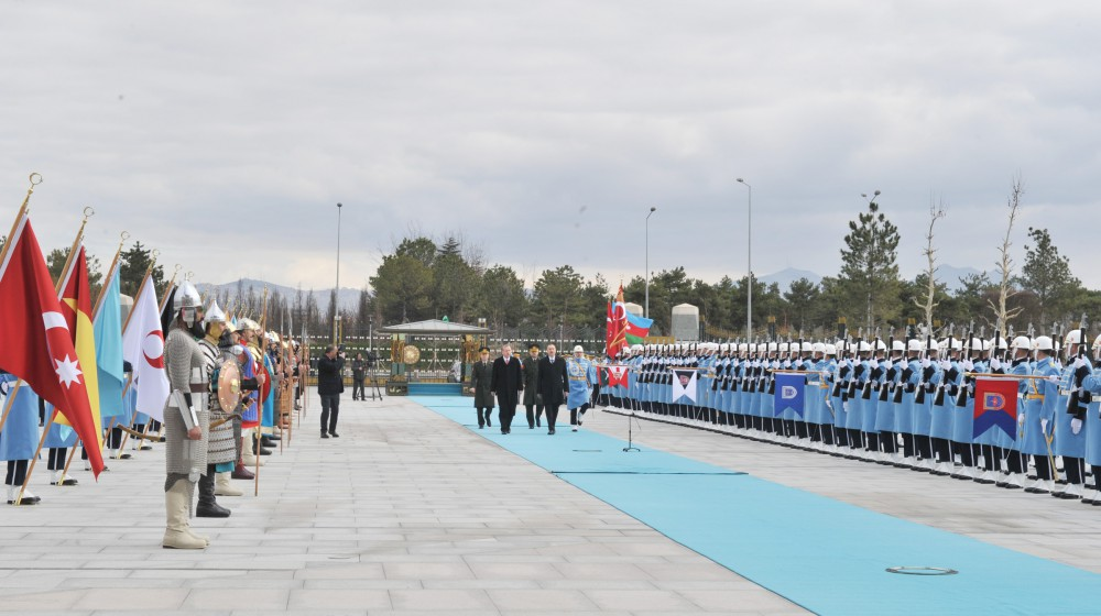 Ankara hosts official welcoming ceremony for Azerbaijan's president (PHOTO) - Gallery Image