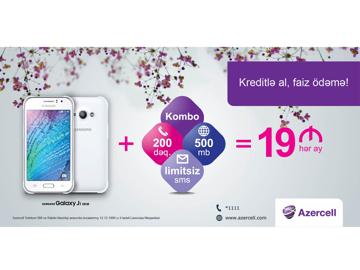 Opportunity to get Samsung J1 Ace cell phone for AZN 19