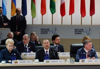 Azerbaijani president participates in 4th Nuclear Security Summit Opening Plenary (PHOTO)