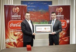 Coca-Cola стала официальным партнером чемпионата Европы по футболу в Азербайджане среди юношей до 17 лет