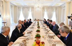 Dinner reception hosted on behalf of President Aliyev in honor of Russian PM - Gallery Thumbnail