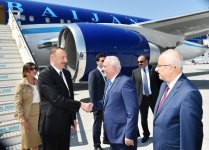 President Aliyev, his wife arrive in Turkey on working visit (PHOTO) - Gallery Thumbnail