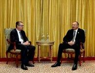 Prezident İlham Əliyev BMT Baş katibinin siyasi məsələlər üzrə müavini ilə görüşüb - Gallery Thumbnail