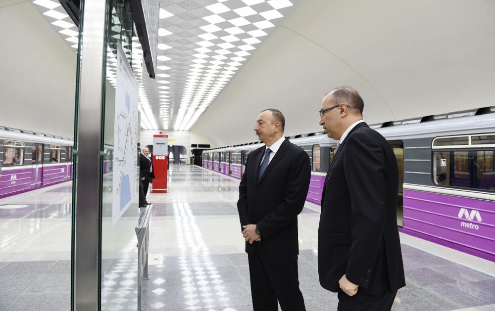 Azerbaycan'da daha 2 metro istasonu kullanıma girdi - Gallery Image