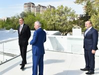President Aliyev, spouse review conditions created at new park in Baku - Gallery Thumbnail