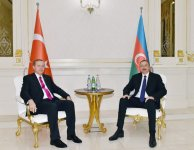 President Aliyev meets with Turkish president Erdogan - Gallery Thumbnail